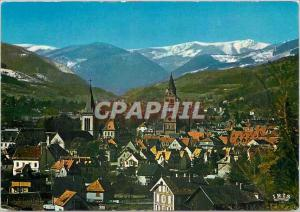 Modern Postcard Munster (Haut Rhin) The city and the Vosges chain