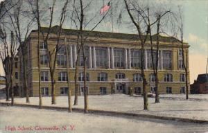 Exterior,  High School,  Glovesville,   New York,  PU_1911