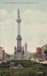 New York Watertown Soldiers And Sailors Monument 1912