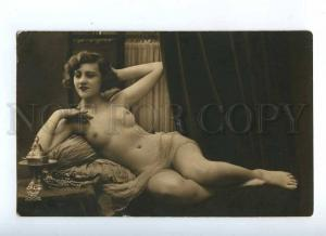 187653 NUDE Woman jewelry HAREM Vintage PHOTO PC Paris #2224
