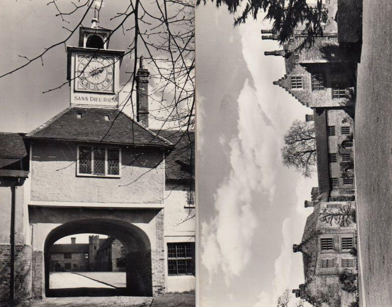 Ingatestone Hall Essex Giant Clock & Grounds 2x Vintage Real Photo Postcard s
