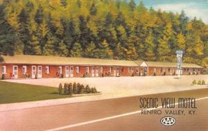 RENFRO VALLEY, KY Kentucky  SCENIC VIEW MOTEL  Roadside  c1940's Linen Postcard