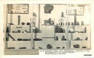 1940s Native American Indian Tool Collection #36 Maryhill Washington RPPC 7419