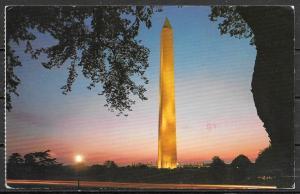 1988 Washington DC, Washington Monument,  mailed to Czechoslovakia