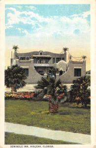 Hialeah Florida Seminole Inn Street View Antique Postcard K54671