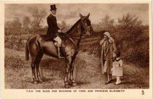 CPA AK Duke and Duhess of York Princess Elizabeth BRITISH ROYALTY (679814)