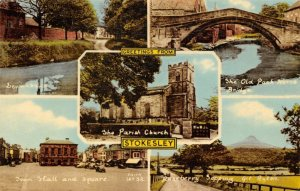 Vintage Multi View Postcard, Greetings from Stokesley, North Yorkshire 37W