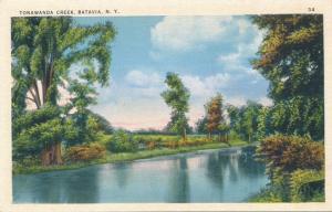 Tonawanda Creek at Batavia NY, New York - Linen