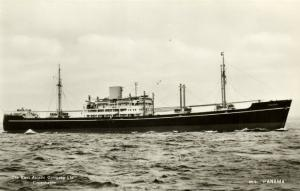 East Asiatic Company (EAC) Motor Ship M.S. Panama (1950s) RPPC