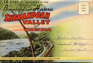 Folder -   Virginia,  Shenandoah Valley  20 views + map