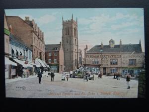 STAMFORD Market Square & St. John's Church FREEMAN HARDY & WILLIS c1903 Postcard