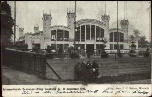 Netherlands Tentoonstelling Waalwijk 1903 Exhibition Hall Stamp Cover Postcard