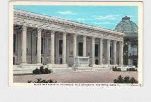 ANTIQUE POSTCARD CONNECTICUT NEW HAVEN YALE WORLD WAR MEMORIAL COLONNADE #2
