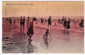 Revere Beach, Mass, Bathing Scene