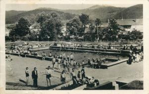 Romania Kovaszna Strand Covasna 1940s photo postcard