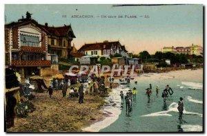 Old Postcard Arcachon Corner Of A Beach