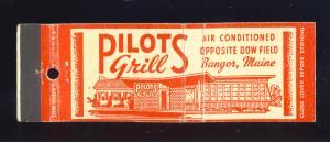 Bangor, Maine/ME Matchcover, Pilots Grill Restaurant