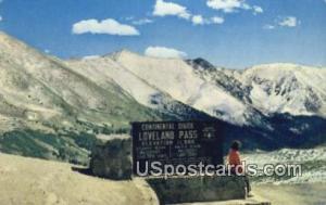 Loveland Pass, CO Postcard       ;       Loveland Pass, Colorado Post Card