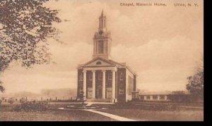 New York Utica Masonic Home Chapel Albertype