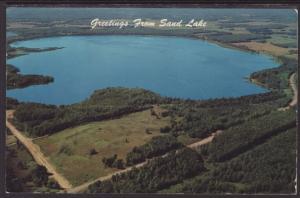 Greetings From Sand Lake,WI Postcard BIN
