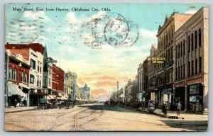 Oklahoma City~Main Street East @ Harvey~Kennedy Dry Goods Store~Hotel~1910 PC