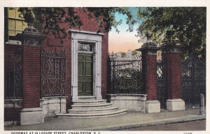 CHARLESTON, South Carolina, 1930-1940's; Doorway At 14 Lagare Street