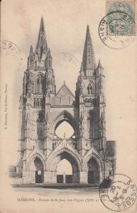 France Soissons Ruines de St. Jean des Vignes 1903 postcard