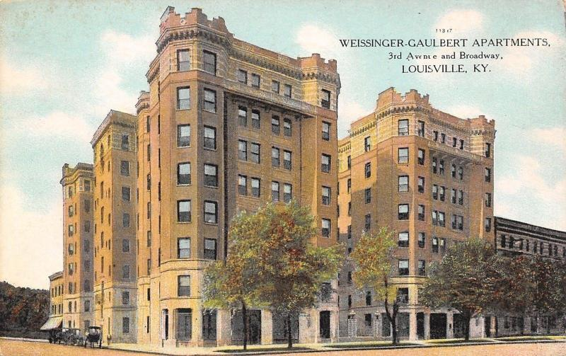 Louisville Kentucky~Weissinger-Gaulbert Apartments~3rd Ave @ Broadway~1908 PC