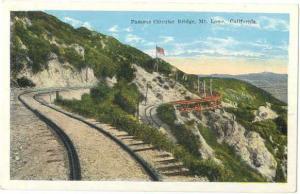 W/B Circular Bridge Mt. Lowe California CA