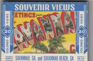 SAVANNAH BEACH , Georgia , 30-40s; Postcard Box