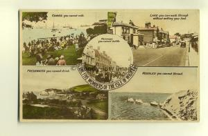 h0244 - The Five Wonders of the Isle of Wight - postcard by Nighs