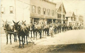 c1910 Borax Mule Team California Koshina Market James Butler RPPC Photo Postcard