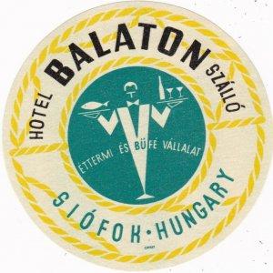 Hungary Siofok Hotel Balaton Vintage Luggage Label lbl0049