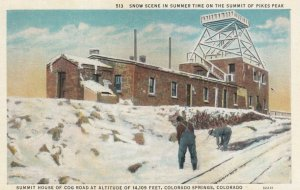 COLORADO SPRINGS, Colorado, 1900-10s; Snow Scene in Summer Time on the Summit...