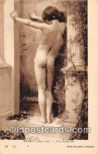 Merrit Anna Lea, Love Locked Out Tate Gallery, London Postcard Post Card Tate...
