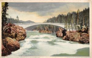 Wyoming~Grand Canyon of the Yellowstone~Concrete Bridge~#8815 Detroit Pub Co