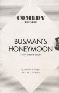 Busmans Honeymoon Detective Police London Comedy Theatre 1930s Programme