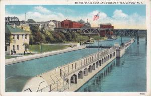 Barge Canal Lock & Oswego River , OSWEGO , New York , 1910-20s