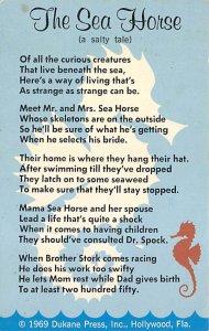 Fishing Postcard The Sea Horse Poem Unused
