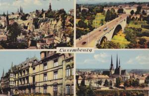 4-Views, Panorama, Bridge, Cathedrale, Etc., Luxembourg, 1920-1930s