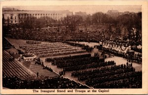 Vtg 1910 Insugural Stand and Troops At The Capitol Taft Inauguration Postcard