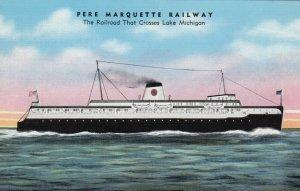 Pere Marquette Railway, Railroad that crosses Lake Michigan, 30-40s