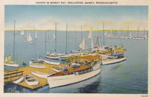 Massachusetts Quincy Wollaston Yachts In Quincy Bay 1946
