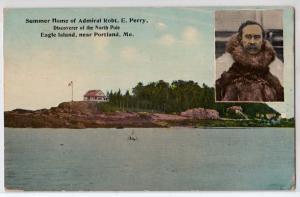 Admiral Robert E Perry. Eagle Island, Portland ME