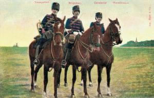 Military postcard Trompetter Brigadier Cavalerist Marschtenue 02.13