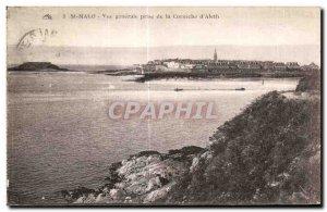 Old Postcard Saint Malo Vue Generale Taking the Corniche Aleth