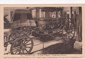 France Versailles Le Petit Trianon Musee des Voitures La Voiture de mariage d...