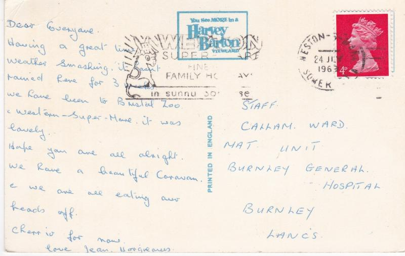 Post Card Somerset CHEDDAR published by Harvey Barton