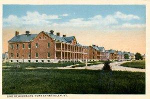 VT - Fort Ethan Allen. Line of Barracks