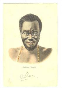 Head portrait , GUINEA - Neger, 1890s-1905